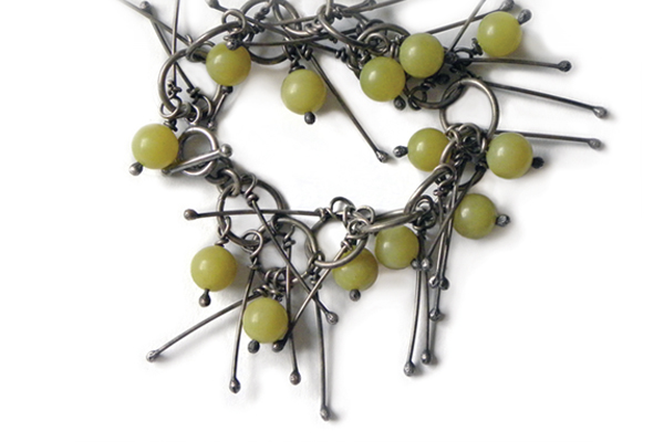 lemon olive jade & spikes